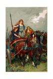 'Spear in Hand, Boadicea Led Them to Attack', Illustration from 'Heroes and Heroines of English… Giclee Print by Gordon Frederick Browne