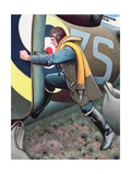A Bomber Flying Officer from Nova Scotia Giclee Print by Keith Henderson