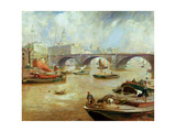 London Bridge from Bankside, 1915 Giclee Print by Sir David Murray