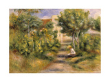 The Painter's Garden, Cagnes, c.1908 Giclee Print by Pierre-Auguste Renoir