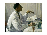 Portrait of S. S. Yudin, 1935 Giclee Print by Mikhail Vasilievich Nesterov