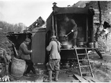 Serving Soup to the Soldiers in the Kitchen Lorry, 1914-18 Photographic Print by Jacques Moreau