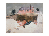 La Plage Hotel, Ty-Mad, Treboul, 1930 Giclee Print by Christopher Wood