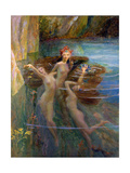 Water Nymphs, 1927 Giclee Print by Gaston Bussiere