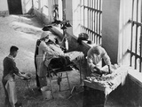 A Field Surgery Unit Operating in an Italian Prison under Fire During World War Two, from a… Photographic Print by  English School