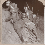 Soldiers in a Trench During the Amiens Offensive, 1918 Photographic Print by  English Photographer
