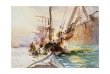 Unloading Boats in Venice, 1904 Giclee Print by John Singer Sargent