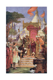 King John (1167-1216) at the Signing of the Magna Carta, 15th June 1215, Illustration from… Giclee Print by Ernest Normand