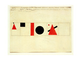Design for the Speaker's Rostrum, 1919 Giclée-trykk av Kasimir Malevich