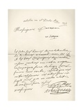 Letter from d'Artagnan to Louvois Concerning a Military Matter, Dated 1672, from 'Memoires de… Giclee Print by  French School