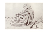 Potter's Wheel, Simla, India, from 'Myths of China and Japan' by Donald A. Mackenzie, Published… Giclee Print by John Lockwood Kipling