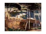 Port de Soller, 1900s Giclee Print by Santiago Rusinol i Prats