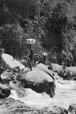 Crossing a Torrent on the Flanks of the Ruwenzori, from an Article Entitled 'To the Mountains of… Photographic Print by  English Photographer