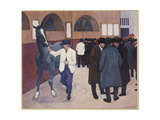Horse Dealers at the Barbican, 1918 Giclee Print by Robert Polhill Bevan