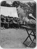 White Man's Magic: The Gramophone Astonishes the Wakonja Natives, from an A Photographic Print by  English Photographer