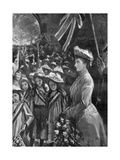 Princess Louise Reviewing Twenty Thousand Children in Battersea Park, Illustration from 'The… Giclee Print by Sydney Prior Hall