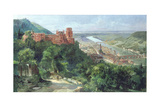 View of Heidelberg, c.1910 Giclee Print by Fritz Genutat