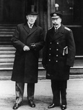 The King Poses with President Wilson Outside Buckingham Palace, 31st December, 1919 Photographic Print by Thomas E. & Horace Grant