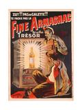 'Zut!!! Pas de Galette!!! Te Fache Pas La Fine Armagnac, Est Une Vrai Tresor', Poster Advertising… Giclée-tryk af Eugene Oge