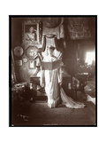 Portrait of Mrs. I. M. Clark Standing with an Open Book, 1904 Giclee Print by  Byron Company