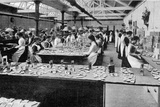 Filling Chocolate Boxes at a York Factory in Readiness for the 'Queen's Teas', Illustration from… Photographic Print by  English Photographer