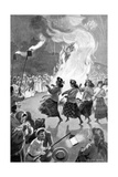 Celebrating Peace Day at Roturua, New Zealand, Illustration from 'The Graphic', July 19th 1902 Giclee Print by George Soper