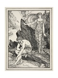 Calypso Takes Pity on Ulysses, from 'Tales of the Greek Seas' by Andrew Lang, 1926 Giclee Print by Henry Justice Ford
