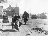 Picking Up Coals from the Street, Berlin, 28th October 1946 Photographic Print by  German photographer