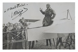 Louis Bleriot in His Monoplane Photographic Print by  French Photographer