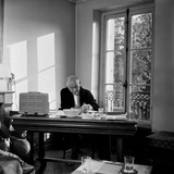 The Writer and Poet Blaise Cendrars in His House, October 1957 Photographic Print