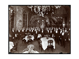 Waiters in the Palm Court at Sherry's Restaurant, New York, 1902 Giclee Print by  Byron Company