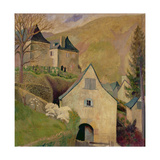Mountain Church, Larrau Gicléetryck av Dora Carrington