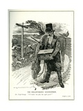 'The Philanthropic Highwayman', Lloyd George with the Old Age Pension Fund, Cartoon from 'Punch'… Giclee Print by Edward Linley Sambourne
