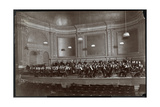 Full Orchestra on Stage, New York, c.1912 Giclee Print by  Byron Company
