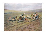 Crossing the Fields, Illustration from 'Hounds' Giclee Print by Thomas Ivester Lloyd