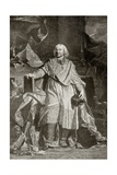 Jacques Benigne Bossuet, Engraved by Pierre Imbert Drevet, from 'The Print-Collector's Handbook'… Giclee Print by Hyacinthe Rigaud