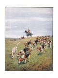 Foxhunting, Illustation from 'Hounds' Giclee Print by Thomas Ivester Lloyd
