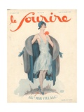 Front Cover of 'Le Sourire', November 1928 Giclee Print by Georges Leonnec