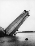 Wreck of Britain's Greatest Airship, the Mayfly, at Barrow, 1911 Photographic Print by Thomas E. & Horace Grant