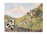 Scrambling over the Wall, Illustration from 'Hounds' Giclee Print by Thomas Ivester Lloyd