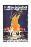 Nazi Youth Festival Poster, 1934 Giclee Print by  German photographer