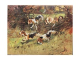 Through the Hedgerow, Illustration from 'Hounds' Giclee Print by Thomas Ivester Lloyd
