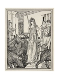 Circe Sends the Swine (The Companions of Ulysses) to the Styes, Frontispiece from 'Tales of the… Giclée-Druck von Henry Justice Ford