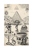 High Degree Symbols, from 'The Freemason', by Eugen Lennhoff, Published 1932 Giclee Print
