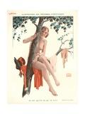 En Mai Quitte Ce Qui Te Plait, Illustration from 'Le Sourire', 1920s Giclee Print by Georges Leonnec