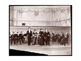 String Section Behind Male and Female Vocalists, 1905 Giclee Print by  Byron Company