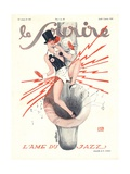 Front Cover of 'Le Sourire', January 1929 Giclee Print by Georges Leonnec
