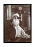 Ethel Barrymore Sitting in the Living Room, 1902 or 1903 Giclee Print by  Byron Company