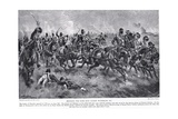 Bringing the Guns into Action, Waterloo, Illustration from 'Hutchinson's Story of the British… Giclee Print by Henry Payne