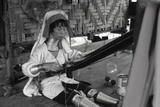 A Padaung Woman Weaving Photographic Print